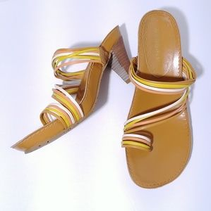 BCBGirls Multi Colored Strap Sandals